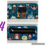 Disney Loungefly Parks Mini Icons and Attractions Zip Around Wallet Wristlet