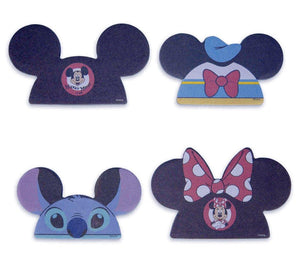 Disney 4 Pack Notepad Set- Character Hats Stitch, Mickey, Minnie, Donald