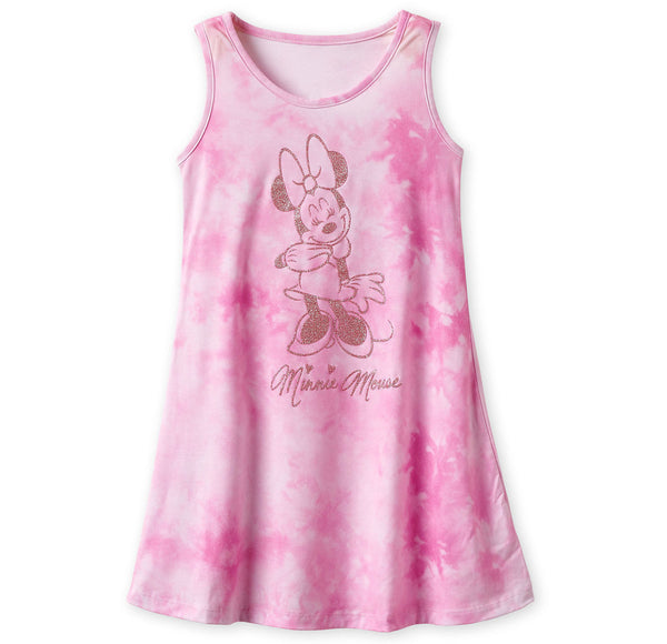 Disney Minnie Tie Dye Glitter Kids Dress