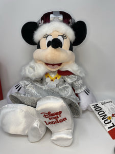 Disney Epcot United Kingdom UK World Showcase Minnie Mouse Plush-15""