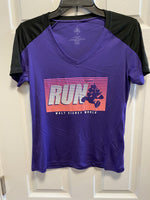 RunDisney Princess Minnie Run Dri Fit V Neck Ladies Shirt