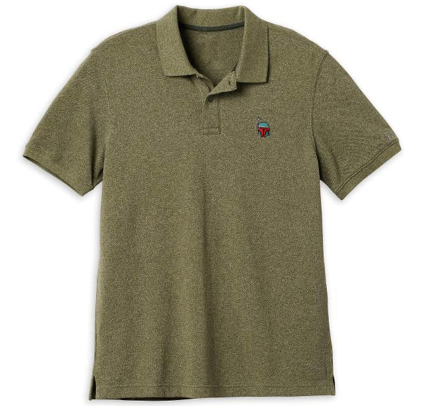Disney Star Wars Boba Fett Embroidered Mens Polo Shirt