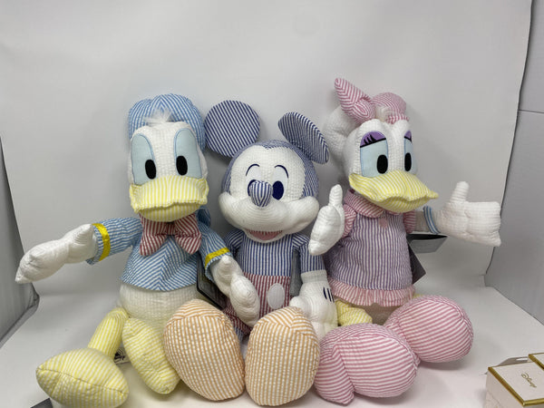 Disney Dapper Mickey, Donald, Daisy Seersucker Plush