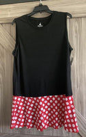 Disney Minnie Mouse Tank Tunic Dress Shirt Ladies