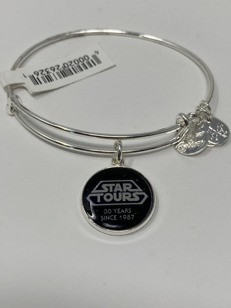 Disney D23 Star Wars Star Tours 30 Years Silver Alex and Ani Bracelet