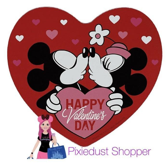 Disney Happy Valentine's Day Mickey and Minnie Heart Magnet