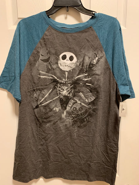 Disney Nightmare Before Christmas Jack Skellington Oogie Raglan Shirt