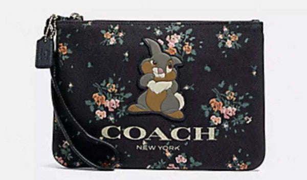 Disney X COACH Thumper Rose Bouquet Wristlet Pouch