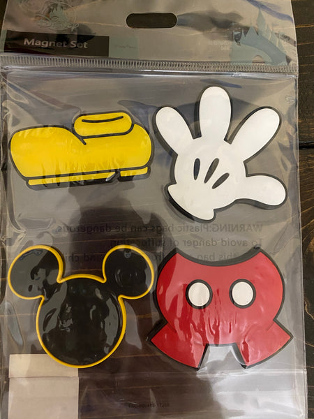 Disney Mickey Parts 4 Piece Magnet Set