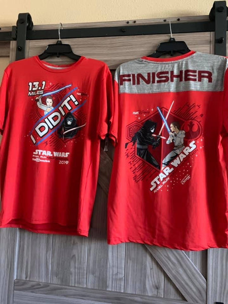 RunDisney Star Wars 2019 Half Marathon 13.1 Mens I Did It Finisher Shirt