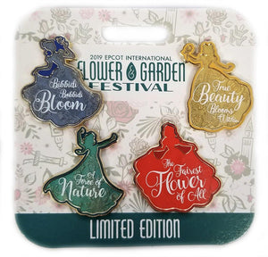 Disney Flower And Garden Pin - 2019 4 Pin Set Princesses