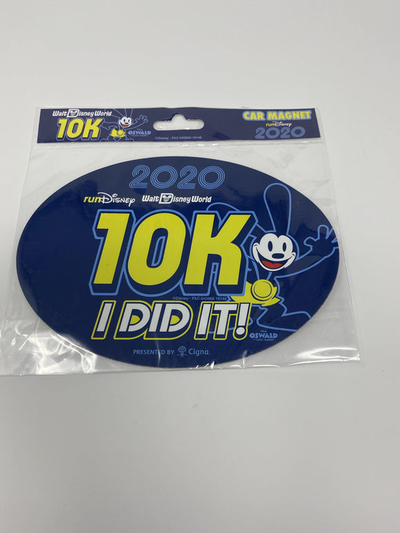 RunDisney 2020 Marathon Weekend Oswald 10K I Did It Car Magnet