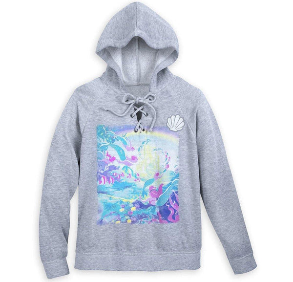 Disney Ariel Lace Up Pull Over Hoodie