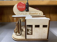 Ginger Cottage Coca Cola Filling Station Cottage Wooden Ornament