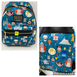 Disney Loungefly Parks Minis Icons and Attractions Backpack Purse