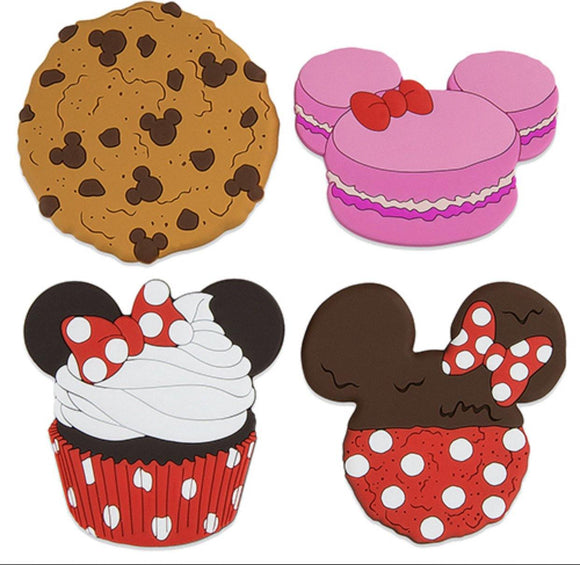 Disney Mickey and Minnie Sweet Treats Cupcake Cookie Magnet Set