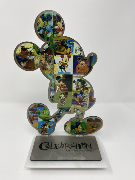 Disney Celebration of the Mouse Mickey Marble and Metal Laser Sculpture