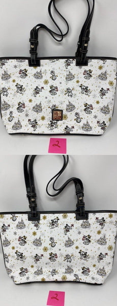 Disney Dooney & Bourke Mickey and Minnie Mouse Holiday Tote Bag Purse
