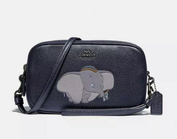 Disney X COACH Dumbo Sadie Crossbody Clutch Wristlet Purse