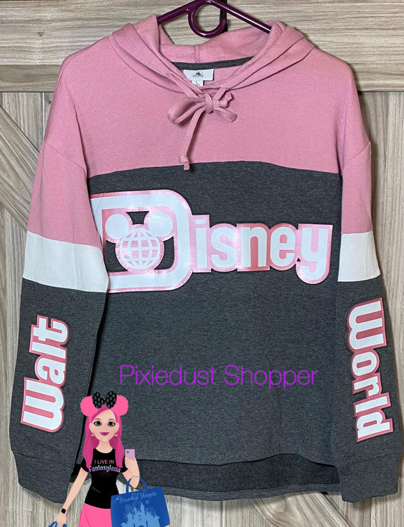 Walt Disney World Metallic Pink Rose Gold Grey Hoodie
