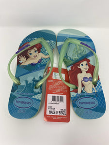 Disney Little Mermaid Ariel Havaianas Girls 3y/4y Flip Flops