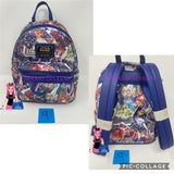 Disney Star Wars Movie Poster Collage Loungefly Backpack Purse