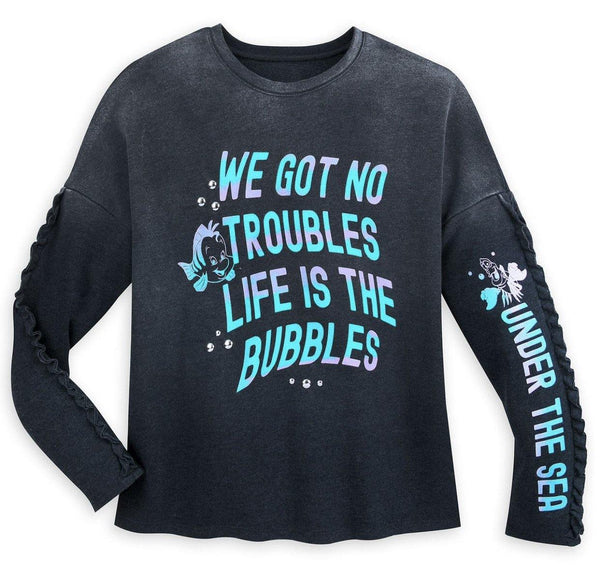 Disney Little Mermaid Flounder and Sebastian Sweatshirt