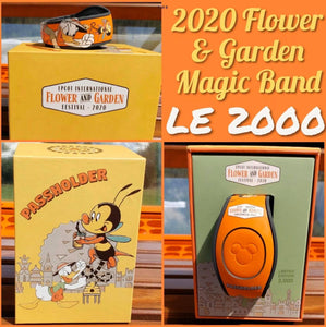 Disney Epcot 2020 Flower and Garden Festival AP Spike the Bee Magicband Limited Edition 2000