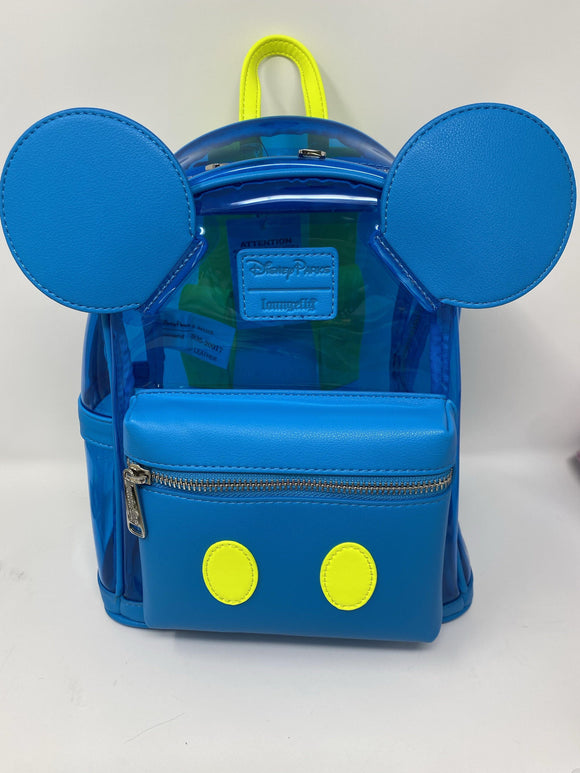 Disney World Loungefly Mickey Mouse Clear Backpack Purse