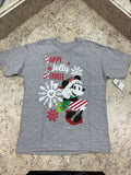 Disney Happy Jolly Minnie Glitter Girls Shirt