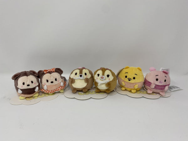 Disney Ufufy Chip/Dale, Pooh/Piglet, or Minnie/Mickey 2 Micro Plush