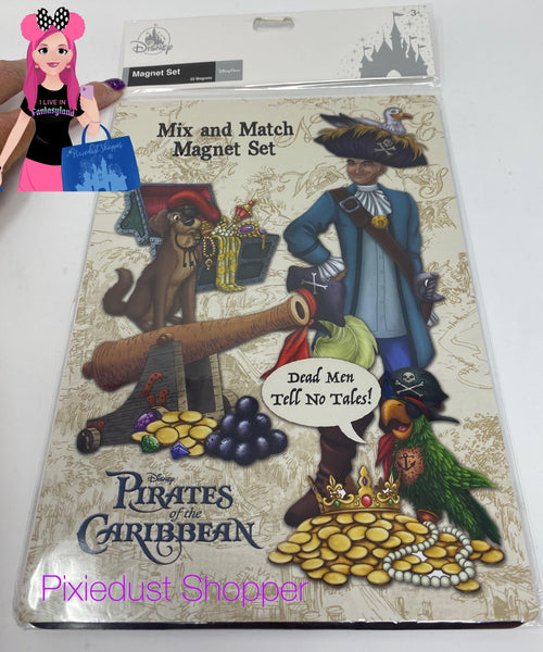 Disney Pirates of the Caribbean 22 Piece Magnet Set