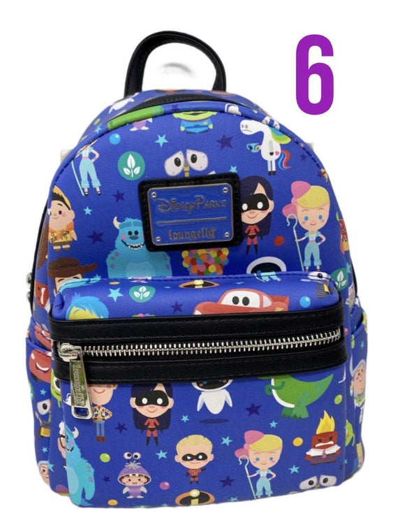 Disney World of Pixar Loungefly Mini Backpack
