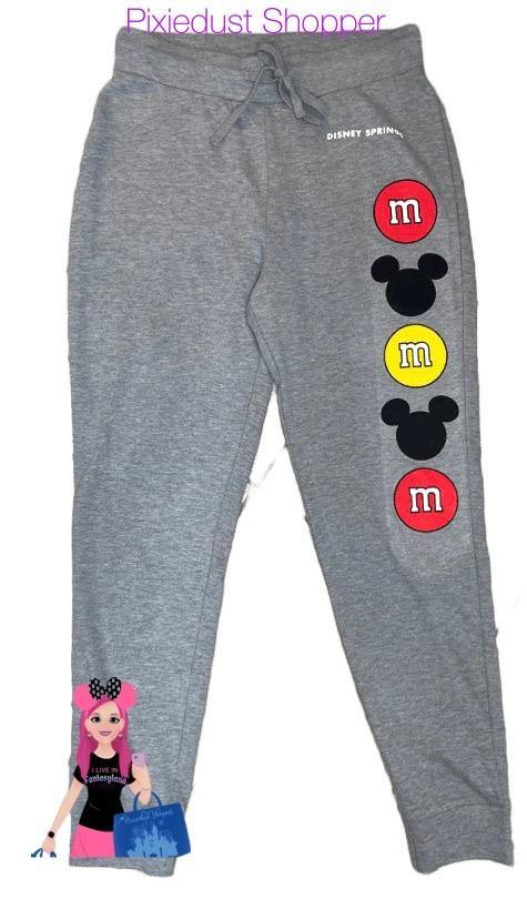Disney Springs M&M and Mickey Ladies Jogger Sweatpants - Pixiedust Shopper
