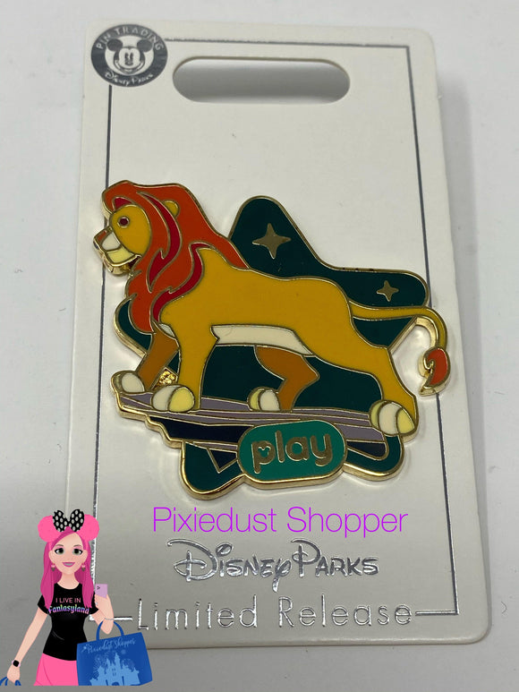 Disney Parks Play Interactive Game App LR Pin Lion King Simba - Pixiedust Shopper