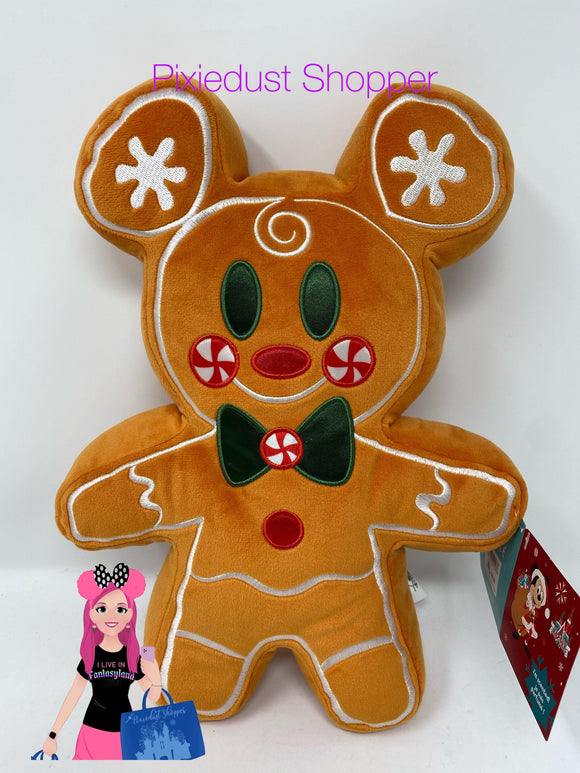 Disney Mickey Mouse Gingerbread Scented Plush Pillow– Small 12''