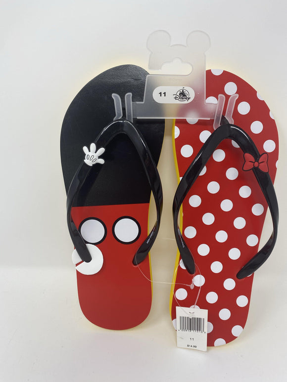 Disney Minnie and Mickey Women's Flip Flops