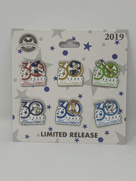 Disney Hollywood Studios 30 Years Anniversary Pin Set