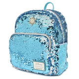 LOUNGEFLY X DISNEY FROZEN ELSA REVERSIBLE SEQUIN MINI BACKPACK