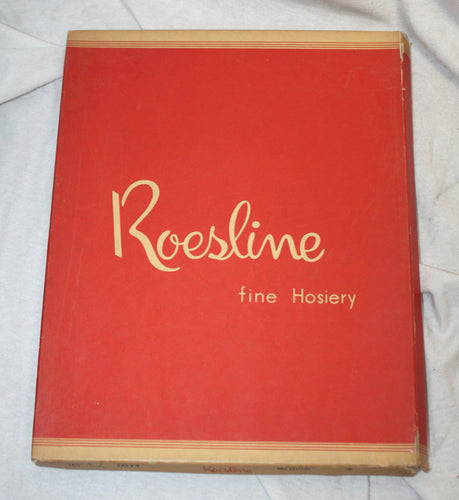 Vintage Roesline Fine Hosiery Taffy (Nude) Stockings Size 9 Medium (to be used w/ Garters)