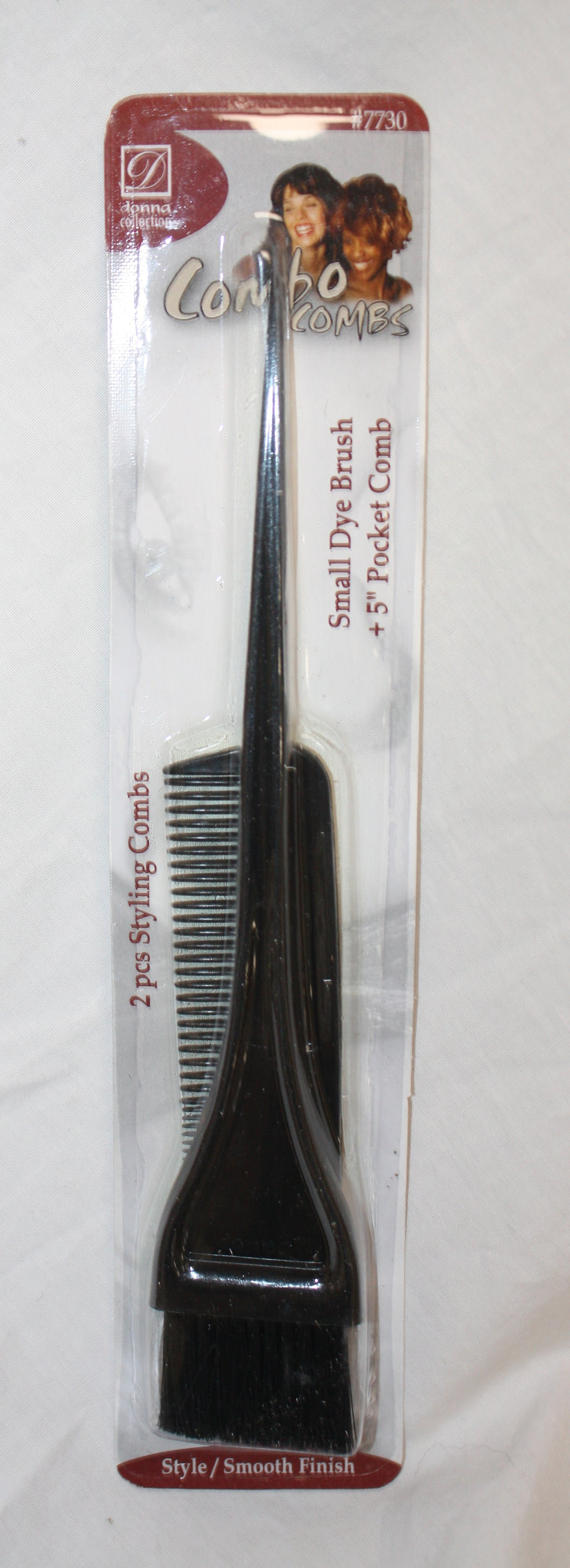 New  Donna Collection Dyed Brush and Comb Set