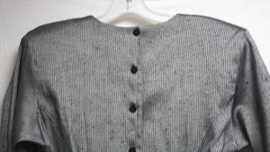 Vintage Gray w/subtle pinstripe Slightly Metallic Sheen Dress (See measurements)