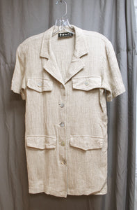 Terry Brand Bright Orange and Yellow Tie Dye Cycling Tank Size (see measurements)