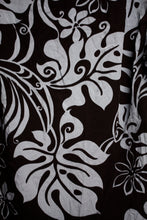 Load image into Gallery viewer, Vintage Winnie Fashion- Hawaii Black and Blue-Gray Hawaiian Shirt Size M