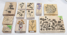 Load image into Gallery viewer, 12 pcs Decorative Papercraft Stamps - Florals