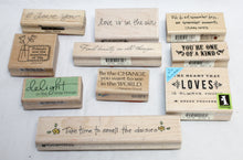 Load image into Gallery viewer, 10 PCs Decorative Papercraft Stamps- Inspiration and Love