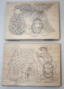 2 pcs Stampendous Christmas Mice Bundle