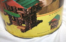 Load image into Gallery viewer, Vintage 1969 Playskool Lincoln Logs Set In Barrel (incomplete)