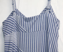 Load image into Gallery viewer, Tommy Bahama Blue & White Sundress  w/ Adjustable Straps Size S