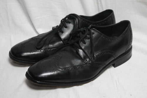 Florsheim Black Leather brogue Shoes Size 10.5D